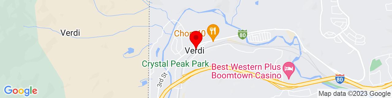Google Map of 39.5183106, -119.9887669