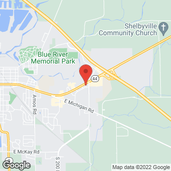 Map of Verizon Authorized Retailer - TCC at 2400 Marketplace Blvd, Shelbyville, IN 46176