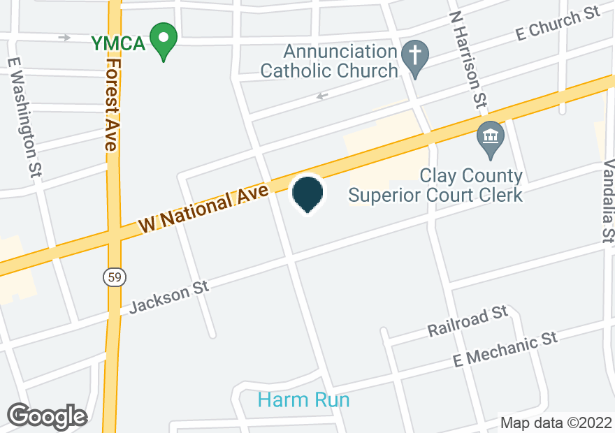Google Map of501 E NATIONAL AVE