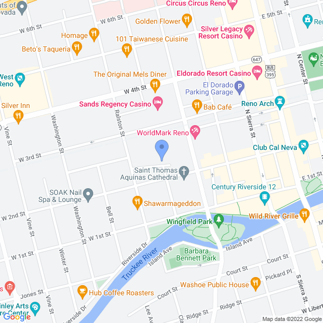 Map showing the Nelson Building
