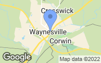 Map of Waynesville, OH