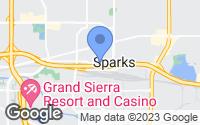 Map of Sparks, NV