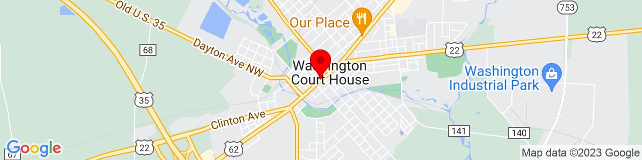 Google Map of 39.53638888888889, -83.43916666666667