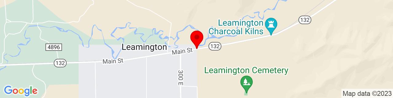 Google Map of 39.536616, -112.2688591