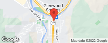 Mapa de 818 Grand Ave en Glenwood Springs