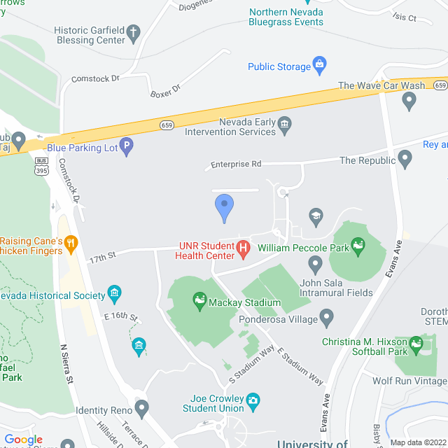 Map showing the Anderson Health Science Building