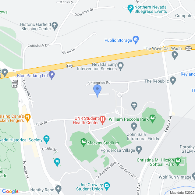 Map showing the Nellor Biomedical Sciences