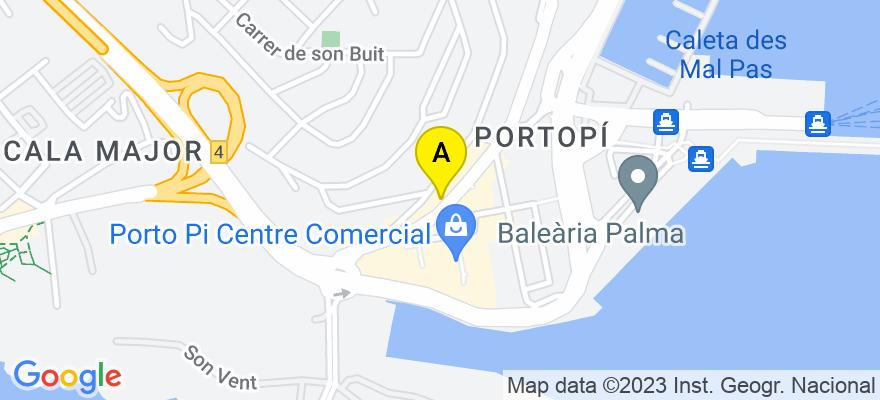 situacion en el mapa de . Direccion: Av. Joan Miro 188 E, 07015 Palma de Mallorca. Islas Baleares