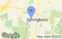 Map of Springboro, OH