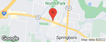 Map of 263 W Central Ave in Springboro