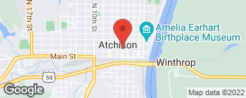 Map of 108 N 6th St in Atchison