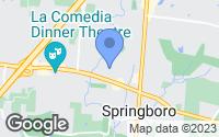 Map of Springboro, OH