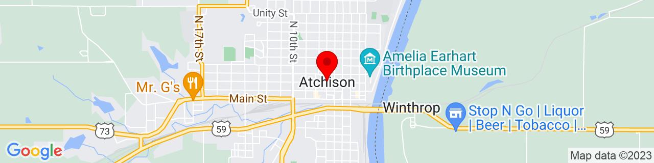 Google Map of 39.56305555555555, -95.12166666666666
