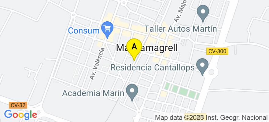 situacion en el mapa de . Direccion: Calle de les Figueres, 10., 46130 Massamagrell. Valencia
