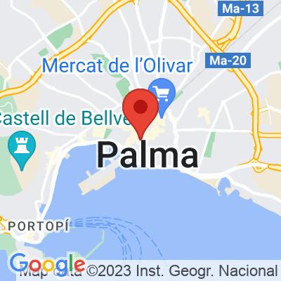 Map showing Rapha Mallorca