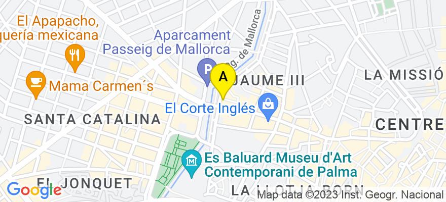 situacion en el mapa de . Direccion: Avda. Jaime III, nº 12 Entlo. A, 07012 Palma de Mallorca. Islas Baleares