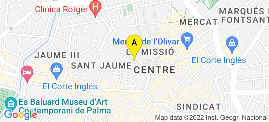 situacion en el mapa de . Direccion: Alfonso el Magnánimo 29 1º despachos 13-14, 07004 Palma de Mallorca. Islas Baleares