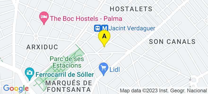 situacion en el mapa de . Direccion: Sanç 10, 07001 Palma de Mallorca. Islas Baleares