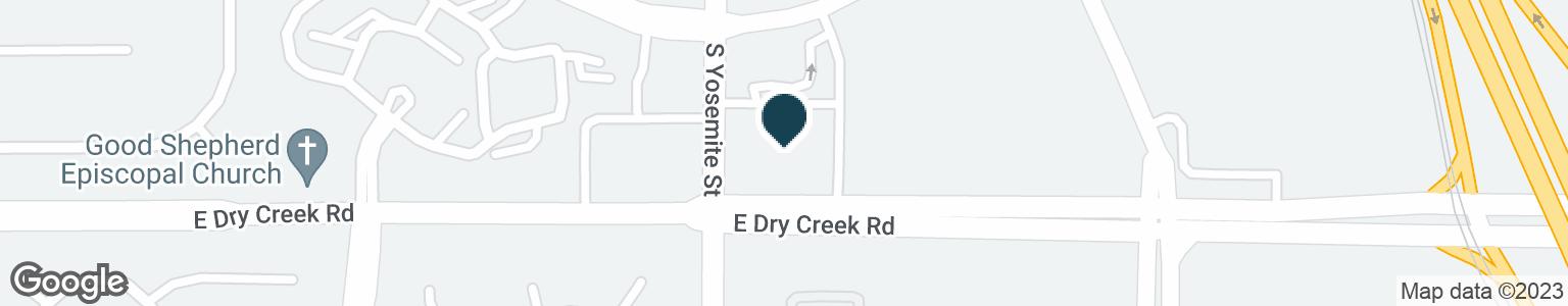 Google Map of8959 E DRY CREEK RD
