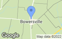 Map of Bowersville, OH