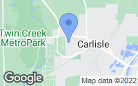 Map of Carlisle, OH