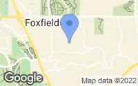 Map of Foxfield, CO