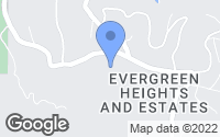 Map of Evergreen, CO