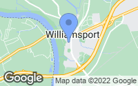Map of Williamsport, MD