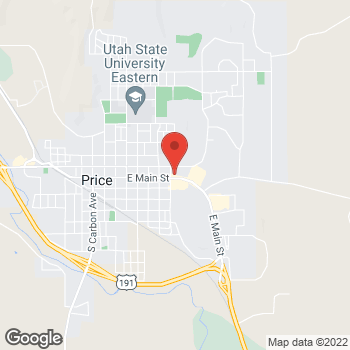 Map of Arby's at 755 E Main, Price, UT 84501
