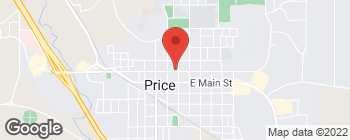 Map of 161 E 100 N in Price