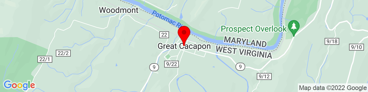 Google Map of 39.62009279999999, -78.29250929999999