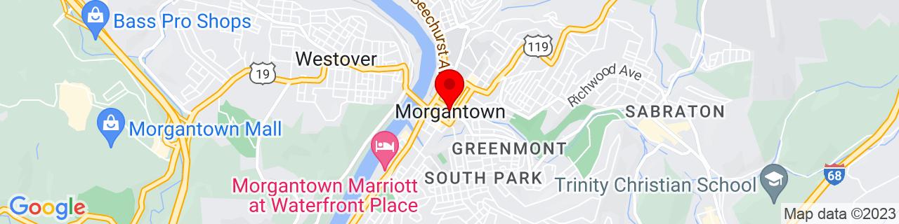 Google Map of 39.629526, -79.95589679999999