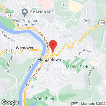 Map of Panera Bread at 207 Willey St, Morgantown, West Virginia 26505