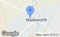 Map of Wadsworth, NV