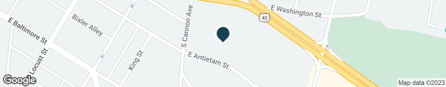 Google Map of324 E ANTIETAM ST
