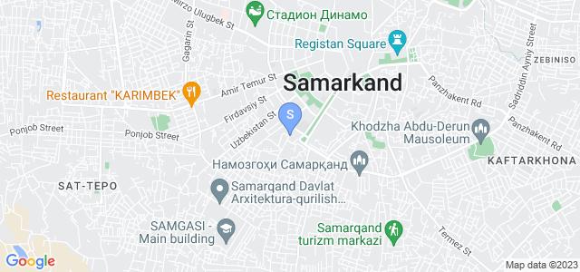 Расположение гостиницы Идеал на карте