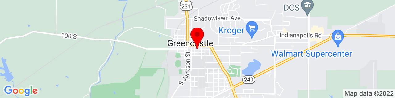 Google Map of 39.6432544, -86.8627596