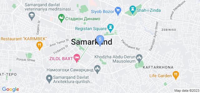 Расположение гостиницы Дилшода на карте