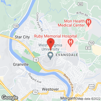 Map of Panera Bread at 357 Patteson Drive, Morgantown, WV 26505