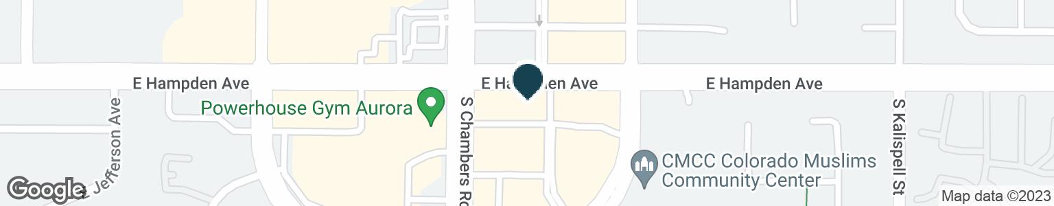 Google Map of15320 E HAMPDEN AVE