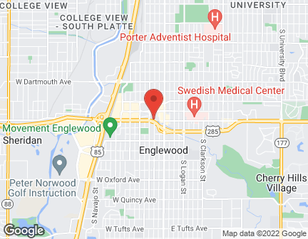 Map of 275 W Hampden Ave in Englewood