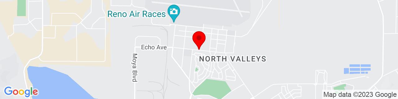 Google Map of 39.65416666666667, -119.87916666666666