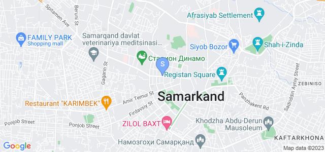 Location of Registan on map