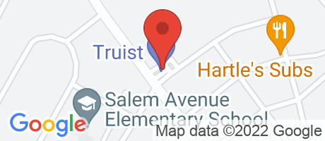 Branch Location Map - BB&T, Salem Avenue Branch, 1326 Salem Avenue, Hagerstown MD