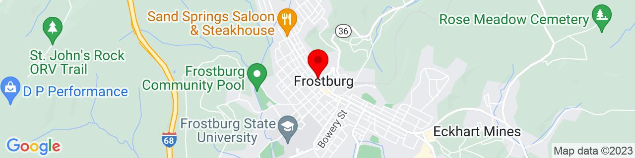 Google Map of 39.6584165, -78.9293177