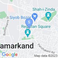 Расположение гостиницы Азия Самарканд на карте