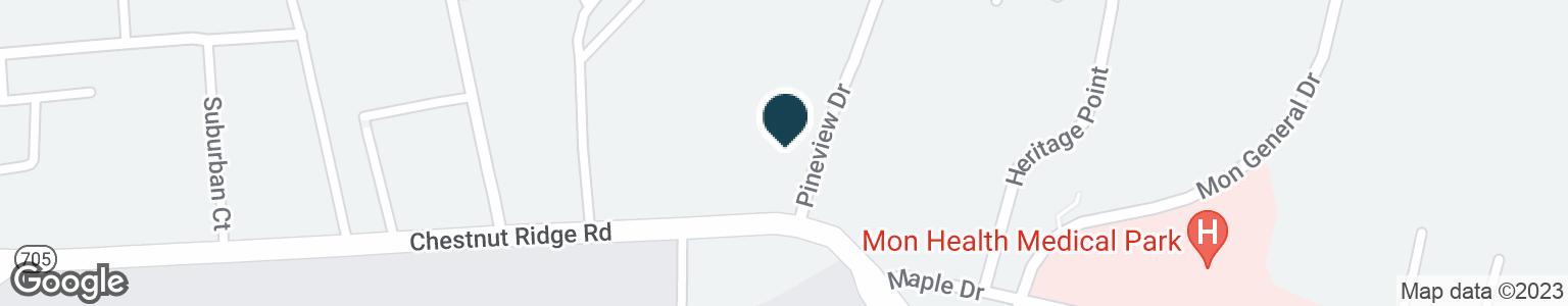 Google Map of897 CHESTNUT RIDGE RD
