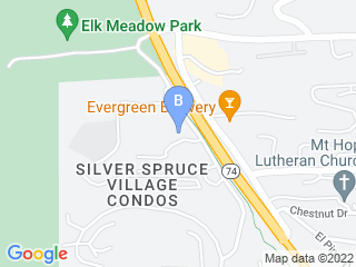 Map of Bergen Bark Inn Dog Boarding options in Evergreen | Boarding