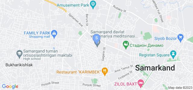 Расположение гостиницы Шабистан на карте