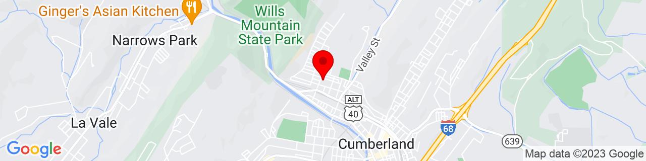 Google Map of 39.6612217, -78.7715927